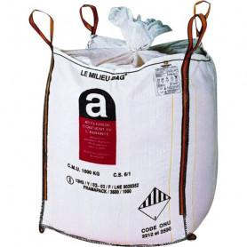 Sac pour le stockage de l'amiante pulvérulent