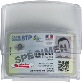 Porte-badge adhésif pour casque Taliaplast