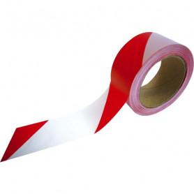 Rubalise rouge et blanc 50 mm
