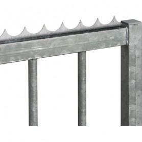 Lisse défensive à visser en acier galva