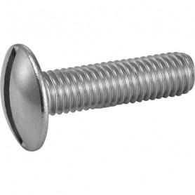 Vis métaux poêlier fendue inox A2